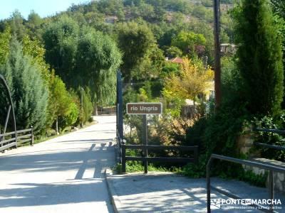 Valle del Río Ungría; rutas de montaña; bastones de trekking escapadas desde madrid
